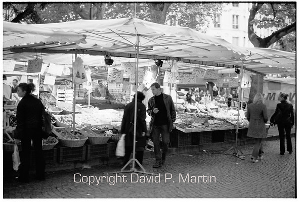 At the market in Place Monge.