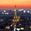 Sunset on Eiffel Tower