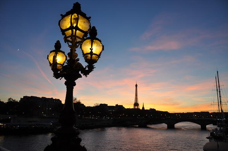 Sunset on the Pont Alexandre III. 2016.