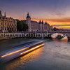 Sunset on Conciergerie at Paris