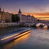 Sunset on Conciergerie at Paris