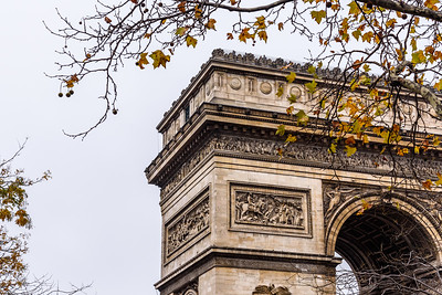 Arc de Triomphe in Autumn.
