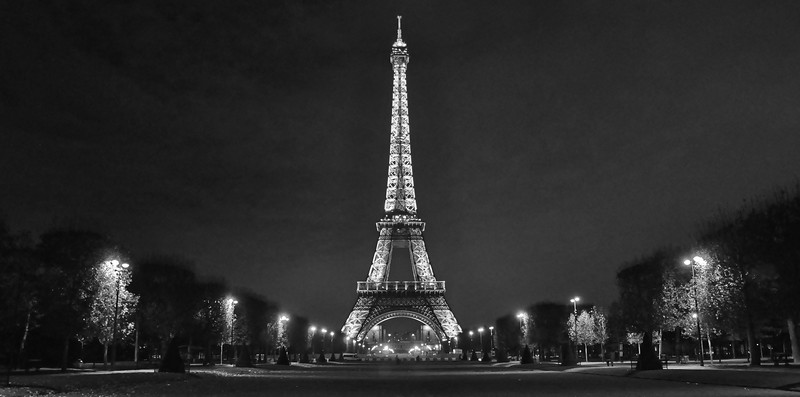 The Eiffel Tower at Night. 2015.