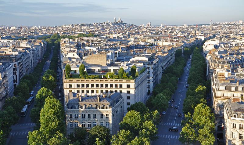 Paris from atop the Arc De Triomphe. 2016.