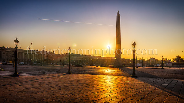 "Sunrise on the ""Place de la Concorde"""