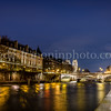 The banks of the Seine at Paris by night ...