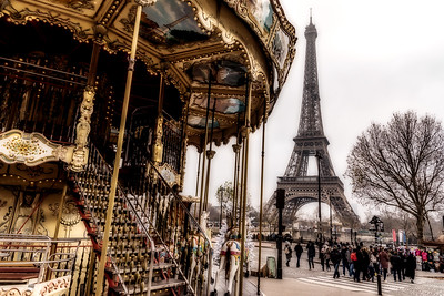 Carousel and Eiffel Tower.