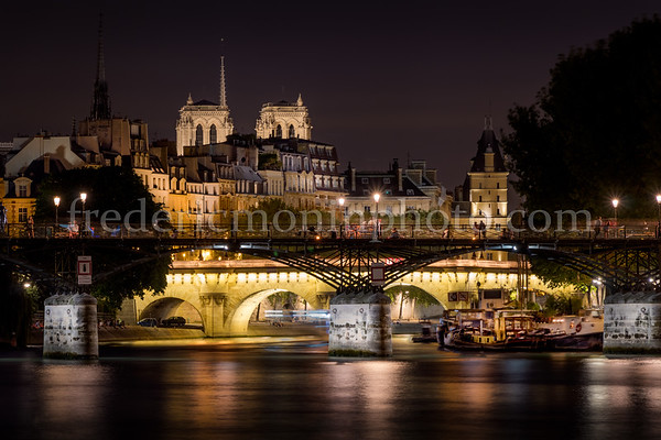 The Seine view from the dock of Tuilerie at Paris