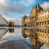 Reflection of the Lourve Museum.