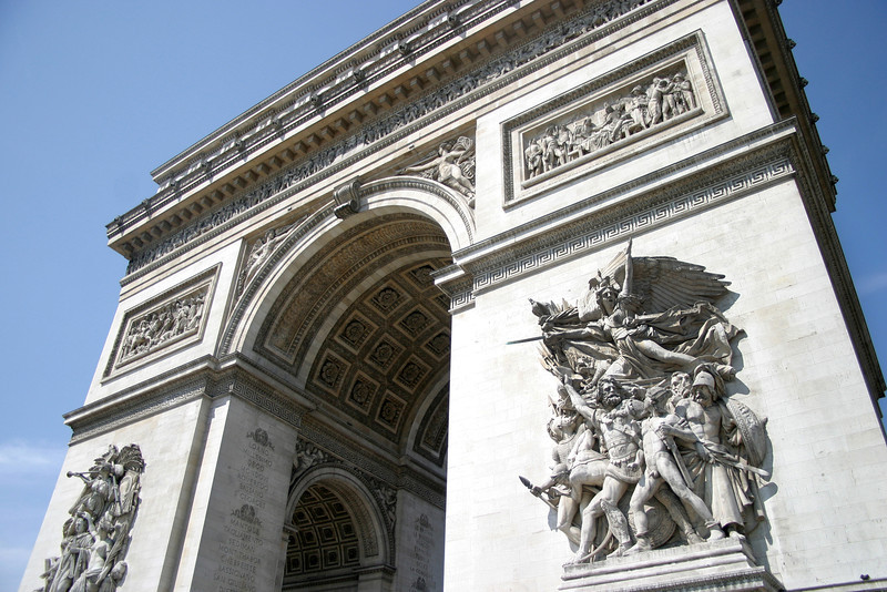 The Arc de Triomphe - one of the most famous monuments of Paris.