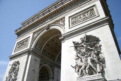 The Arc de Triomphe - one of the most famous monuments of Paris.