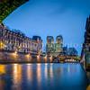 Under the St-Michel bridge at Paris ...