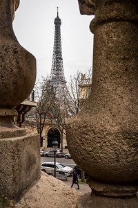 A peek at Eiffel Tower.