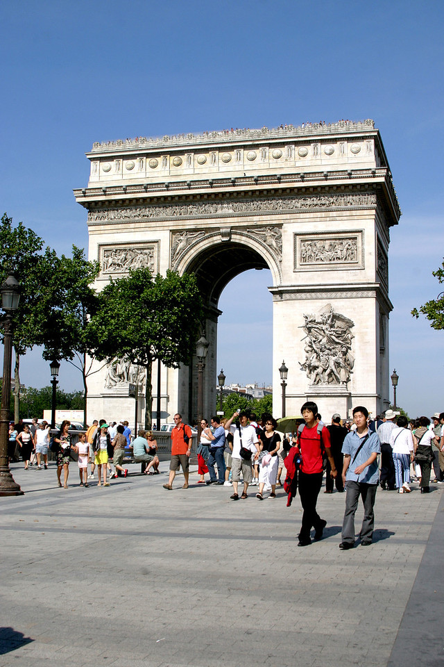 The Arc de Triomphe.