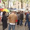 rain, umbrellas at Montmartre, shopping at Montmarte