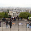 Looking down from the steps of the Sacre Coeur Church