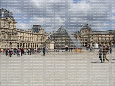 Outside the Louvre,  Pyramid entrance