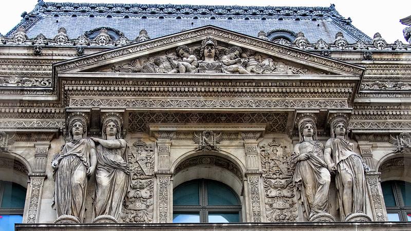 Facade to the Louvre