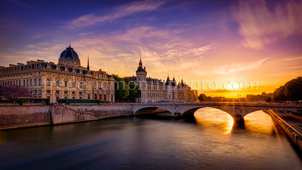 Sunset in the Conciergerie at Paris ...