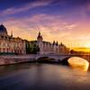 Sunset in the Conciergerie at Paris ...