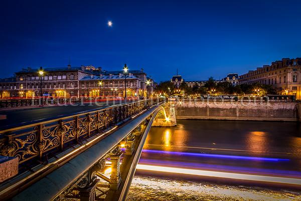 Bridge and the moon
