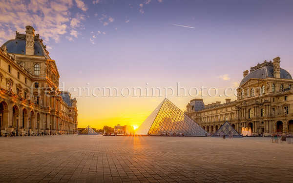 Sunset on the Pyramid of the Louvre
