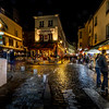 Montmartre by night at Paris