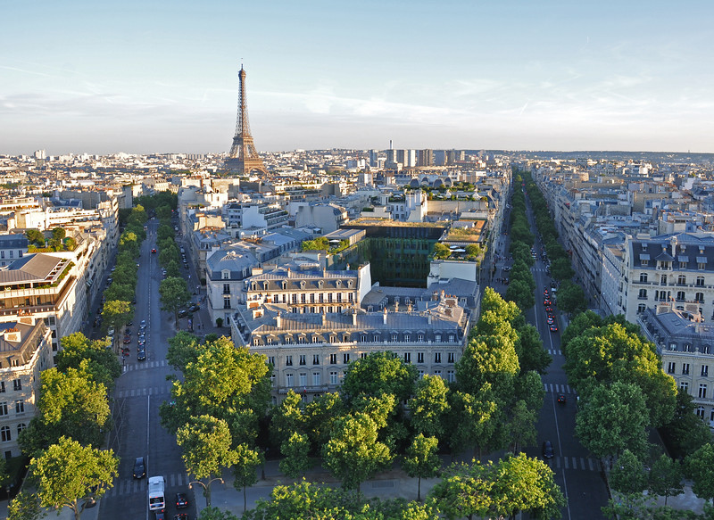 The Eiffel Tower from the Arc de Triomphe. 2016.