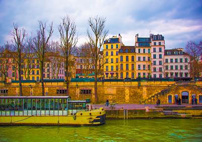 'Bistro Barge,' Paris 2016.