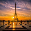 Sunrise on the Eiffel Tower at Paris