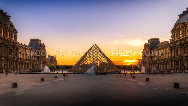 Sunset on the Louvre at Paris