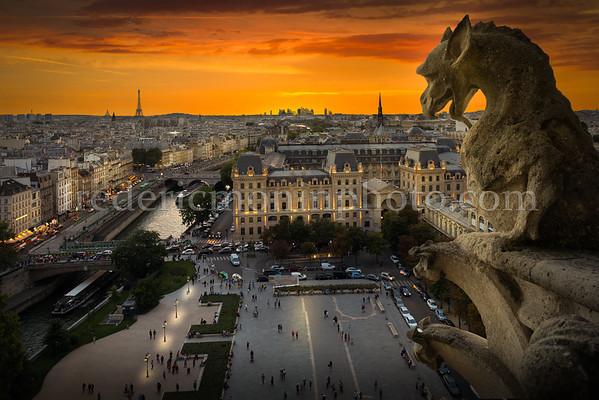 Sunset from Notre Dame of Paris