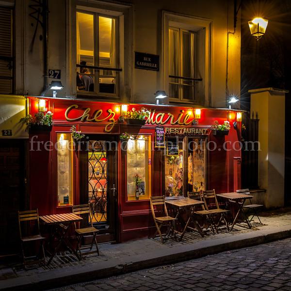 Restaurant Chez Marie at Paris in the Montmartre district