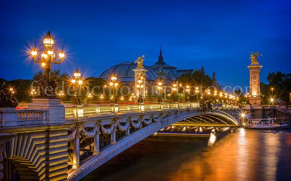 Alexandre III bridge by night
