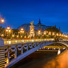 Alexandre III bridge by night
