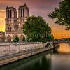 Sunrise on Notre Dame de Paris