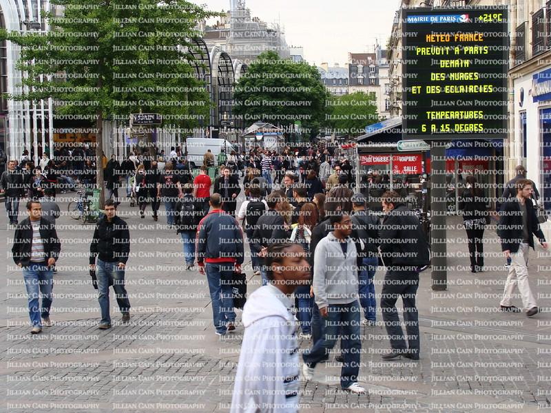 Crowd on a Paris street