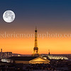 The Eiffel tower and the moon