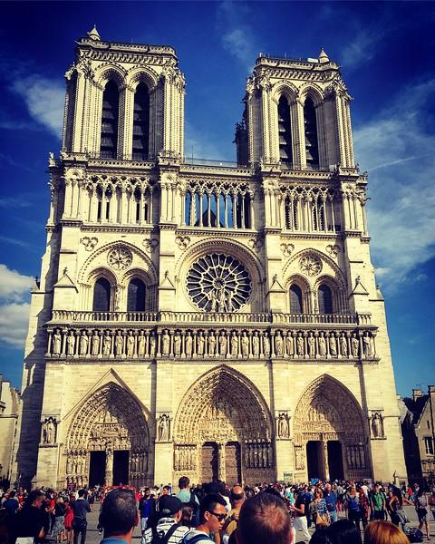 Notre-Dame de Paris Cathedral. 2016.