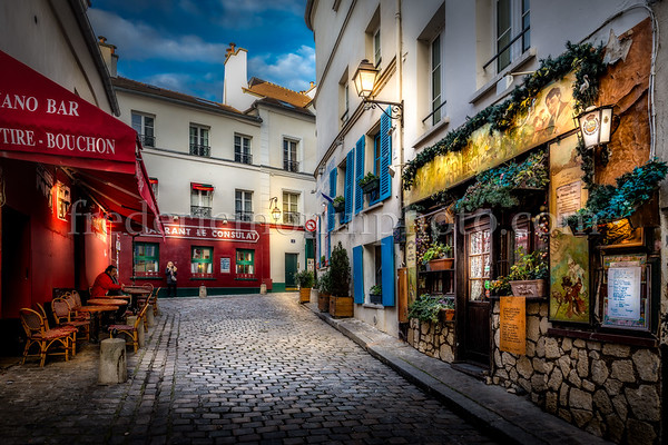 Poulbot street at the Montmartre district in Paris