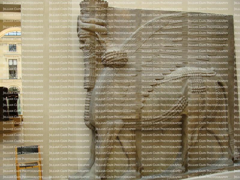 Lamassu (Human-headed winged bull) the Louvre