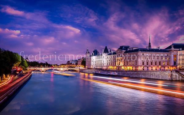 Blue Hour on the Conciergerie in Paris