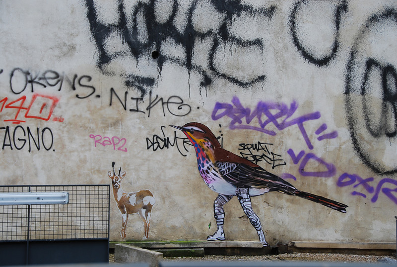 Street art near the Pompidou Centre, Paris, 2011. Artist: Celso Gatihy, Brasil.