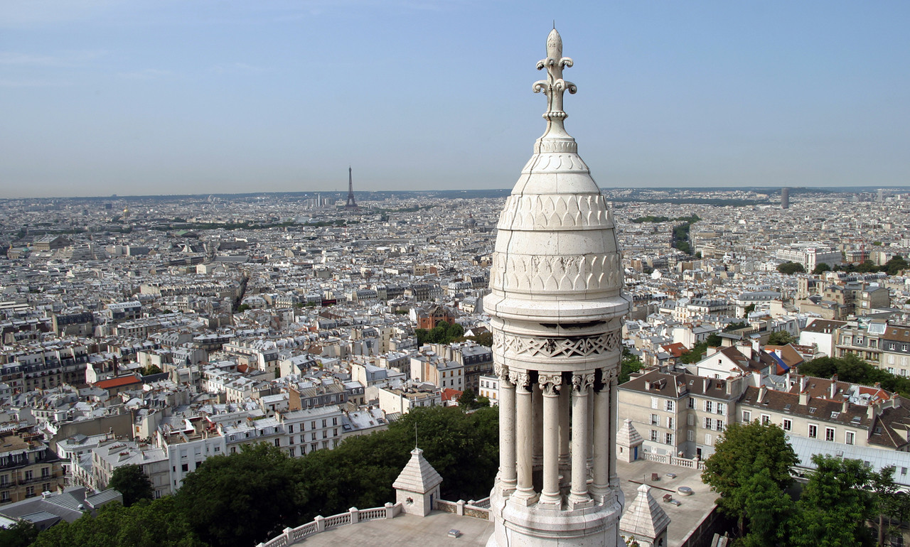 Basilique du Sacré-Cœur, Paris - view from the dome.