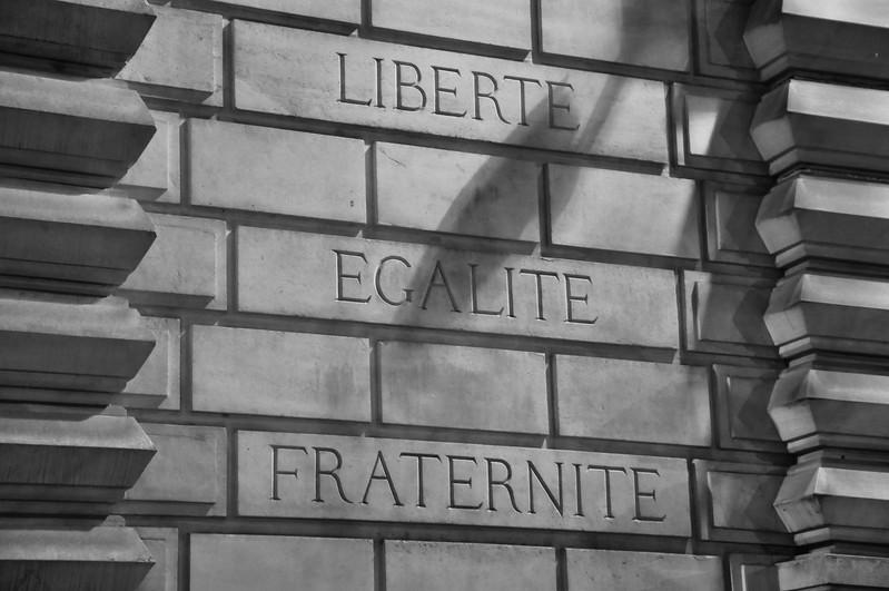 Liberté, Égalité, Fraternité. 2016.