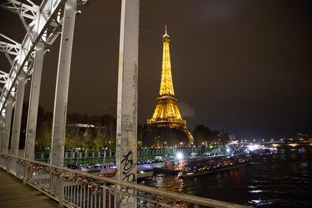 Bridge, River and Eiffel Tower