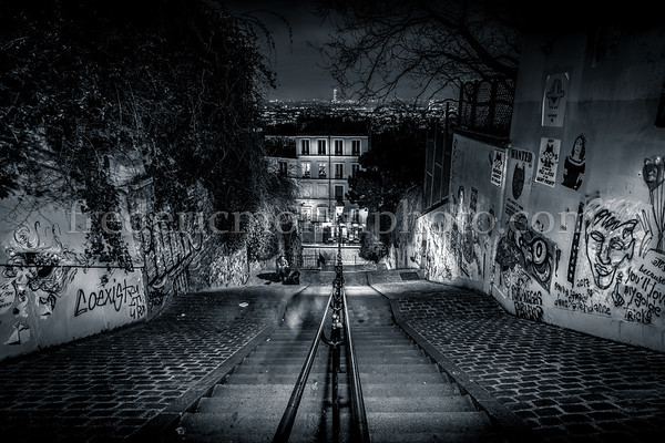 Stairs at Montmartre in Paris