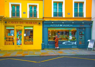 'Stopping Along Rue François Miron,' Le Marais, Paris 2016.
