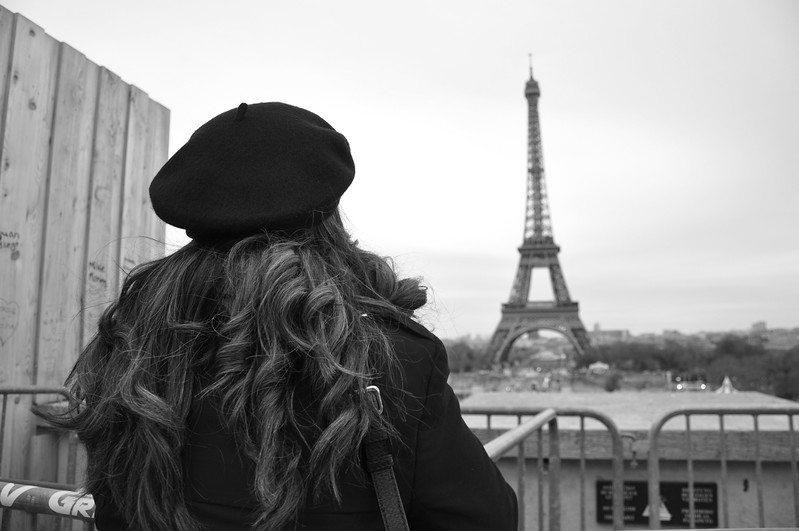 Seeing the Eiffel Tower for the first time. 2015.