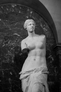 The Venus de Milo, in the Louvre